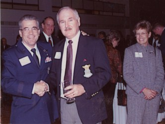 USAF Academy Ceremony Nov 16 2001 - Dedication Gen Risner's Statue - Academy Dean One Star Gen pictured